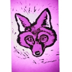 PURPLE FOX CARD