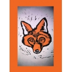 ORANGE FOX CARD