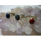 Silver Plated Gemstone Rings - 10x8mm