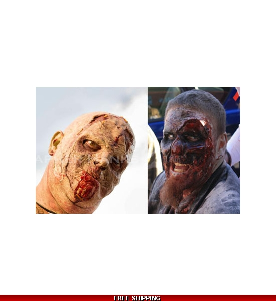 2 zombie masks bulk pack