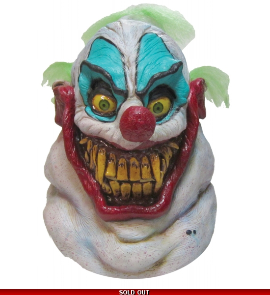 Sloppy the Clown Scary Full Latex Deluxe Halloween haunted circus Mask New