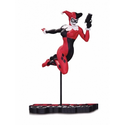 Red White & Black DC Comics Harley Quinn Statue By Terry Dodson