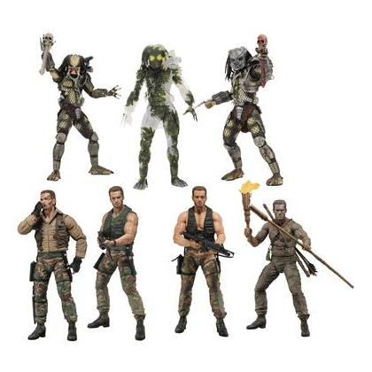 Predator 30th Anniversary Action Figure Set of 7 By NECA