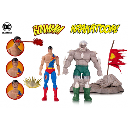 DC Comics Icons Doomsday & Superman Two Pack Deluxe Action Figures