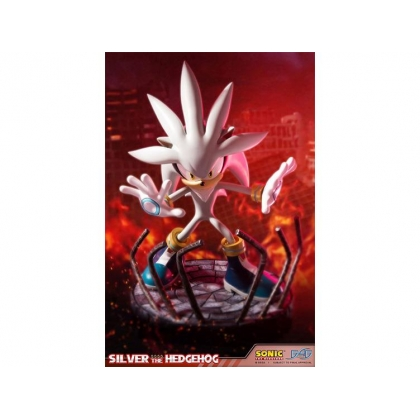 Sonic The Hedgehog Silver Hedgehog Statue Figure by First 4 Figures