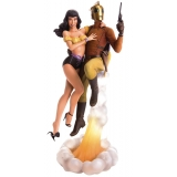 Dave Stevens' Rocketeer & Betty Statue..