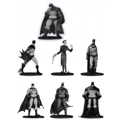 DC Comics Batman Black & White Mini PVC Statue Figure 7 Pack Set 3
