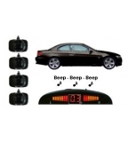 4 Adhesive Sensors, Silver or Gloss Black, Audio & Dash Display