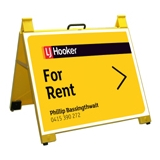 LJ Hooker For Rent Endurosign Yellow