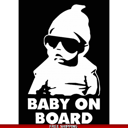 Baby On Board Cool Dude Car Sticker 110x155mm
