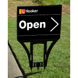 LJ Hooker Spike Sign With Printed Corf..