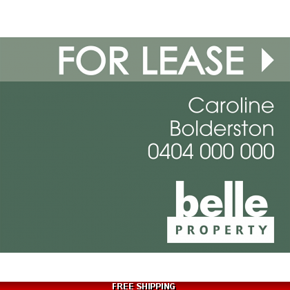 Belle Property For Lease Endurosign Replacement Sticker Set