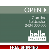 Belle Property Open Endurosign Replace..