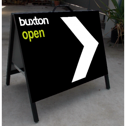 600x450 Metal A-Frame Sign Printed