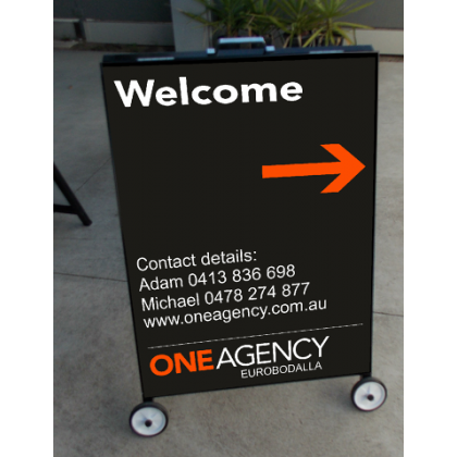 High Quality Metal A Frame Sign 82x60cm Printed Australia Made