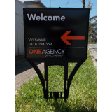 One Agency Spike Sign With Printed Cor..