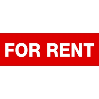 FOR RENT Sticker