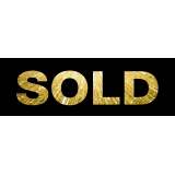 SOLD BLACK AND GOLD Sticker 60X20cm