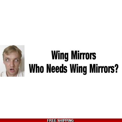 Wing Mirrors, Who Needs Wing Mirrors Sticker