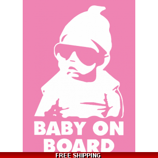 Baby On Board Cool Babe Car Sticker 11..