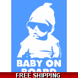 Baby On Board Cool Dude Car Sticker 11..