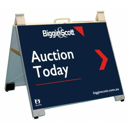 Biggin & Scott Auction Today Endurosign Portable A-Frame White
