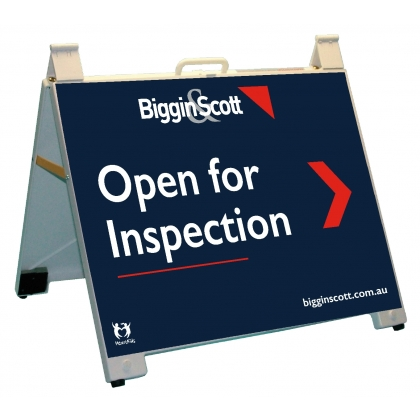 Biggin & Scott Open For Inspection EZSign Portable A-Frame White
