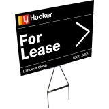 LJ Hooker 600x450 Corflute Sign with S..