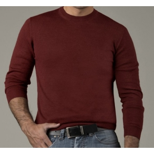 Baby Alpaca Men's Crew Neck Sweater