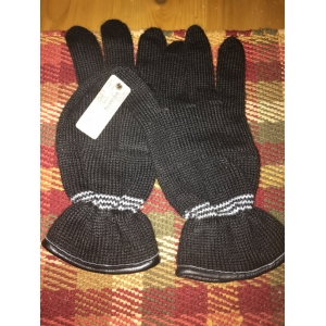 Black Alpaca Driving Gloves -warm, high quality