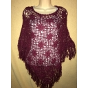 Crocheted Alpaca Poncho..