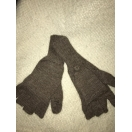 Alpaca Glitten-mittens/gloves Rose Brown