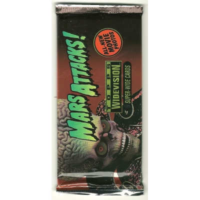 1996 Topps MARS ATTACKS Widevision Movie Trading Cards