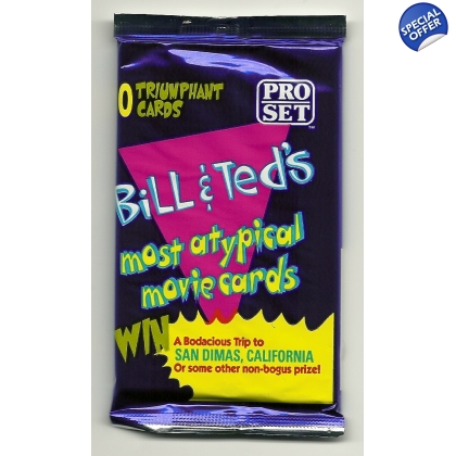 1991 Pro-Set Bill & Ted's Most Atypical Movie Cards