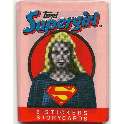 1984 Topps Supergirl Sticker..