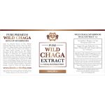 Wild Chaga Extract 1:1 Dual Extraction Tincture 60ml / 2floz