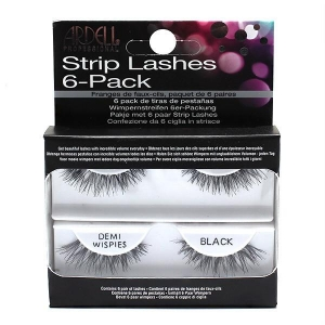 Ardell Professional Strip Lashes 6-Pack Demi Wispies Black