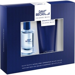 David Beckham Classic Blue Eau De Toilette 40ml & Shower Gel 200ml