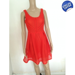 Matilda textured red skater dress