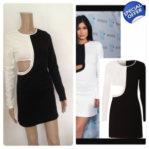 Side cut out bodycon dress
