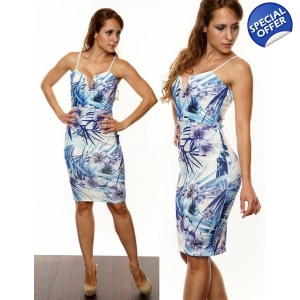 Floral plunge bodycon