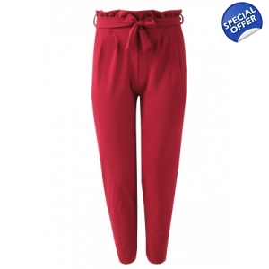 Plus size cigarette trousers