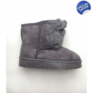 Fur bunny boots children's