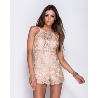 Lace Gold Playsuit