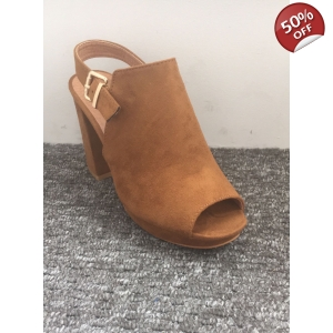 Brown Peep toe