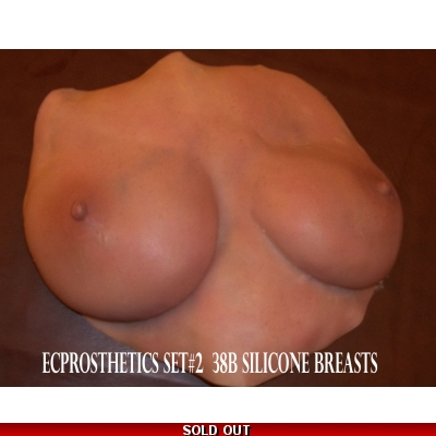 38B Cup prosthetic gel-filled hyper realistic breast set 2