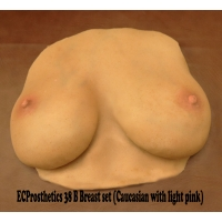 Various Breast sets for medical training flat backed silic..