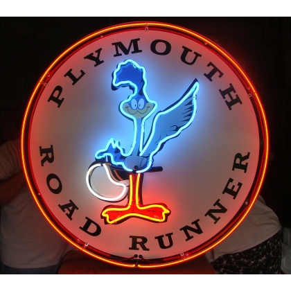 "Plymouth Roadrunner Neon Sign 25"" Full Canned DOUBLE"