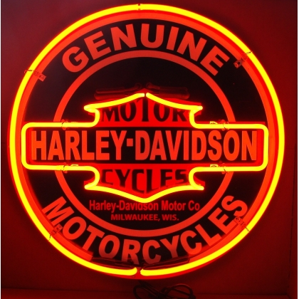 24 inch Harley Davidson Double Neon