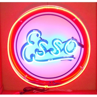 Esso Double Neon 24 in. Canister